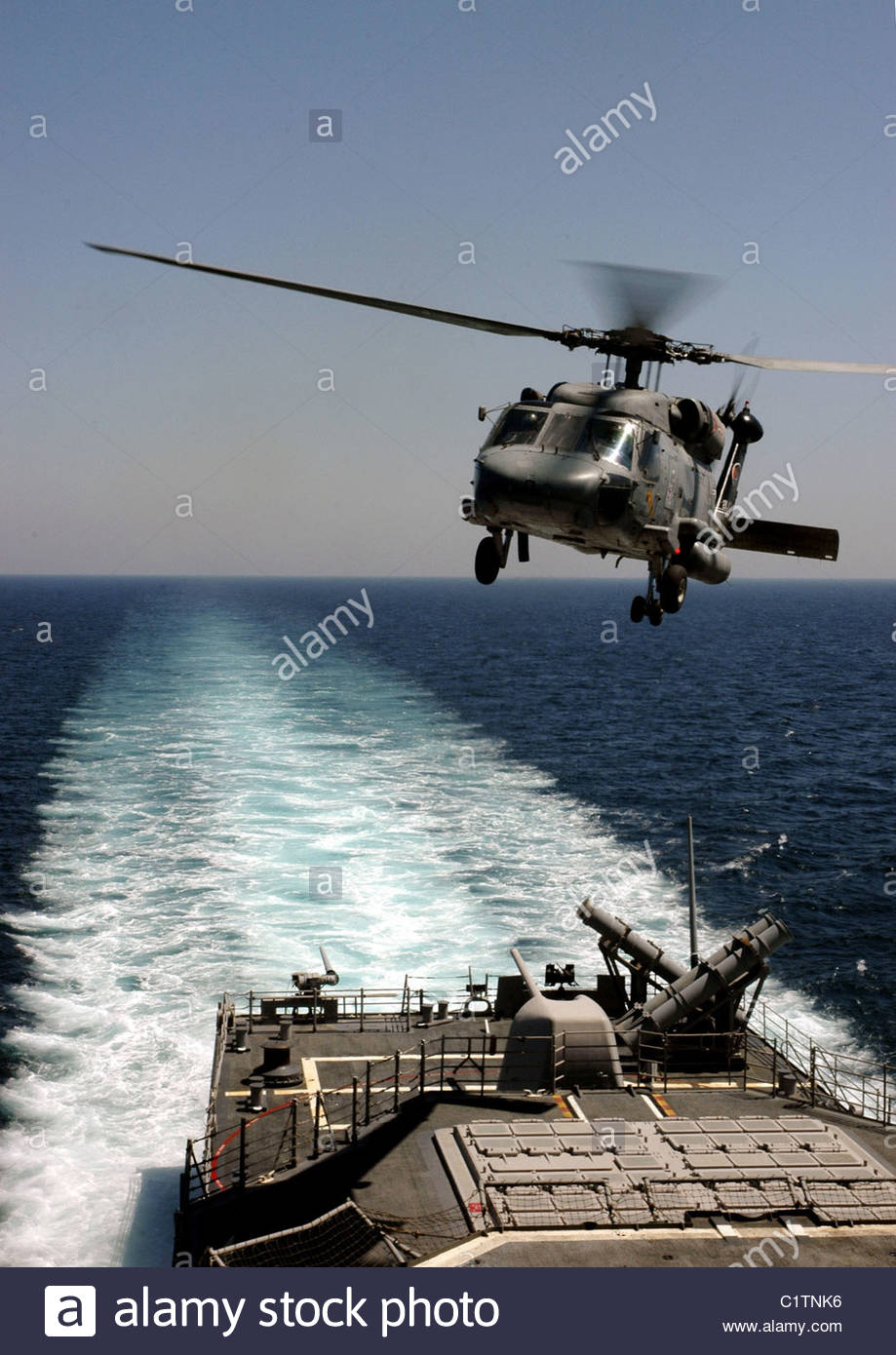 SH-60H Seahawk Helicopter Anti-Submarine Stock Photo