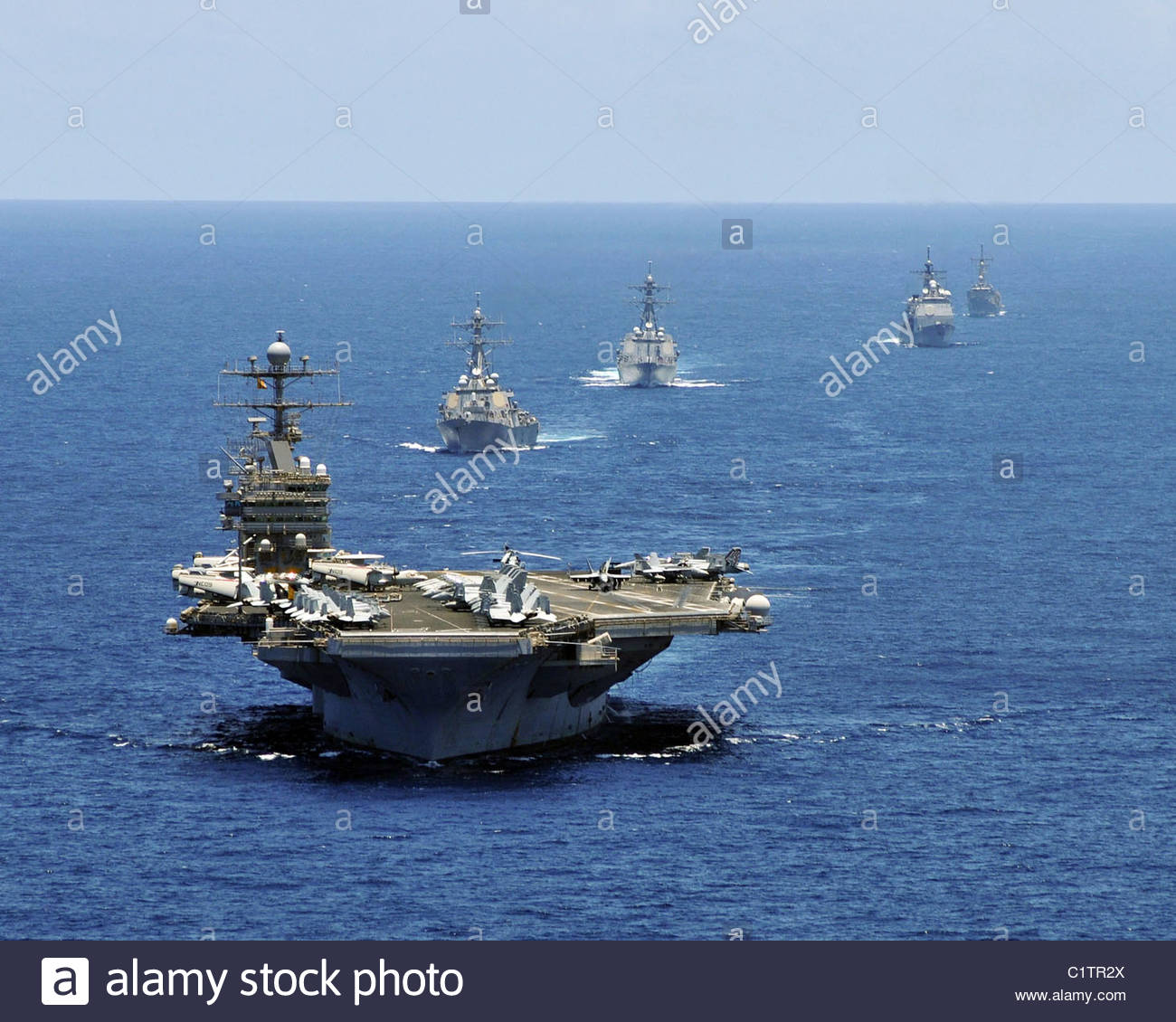 Aircraft carrier USS Abraham Lincoln - Stock Image