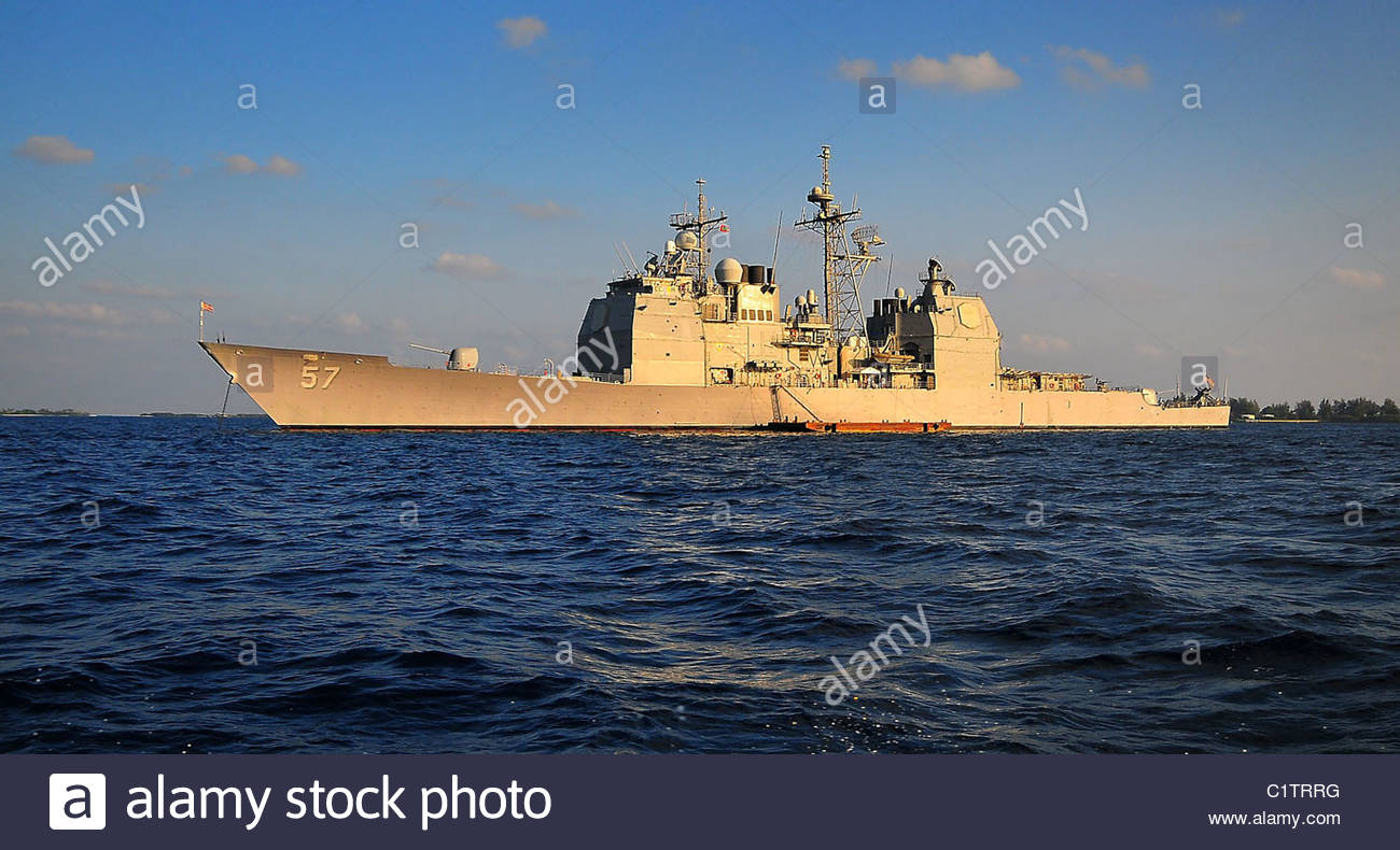 USS Lake Champlain Stock Photo