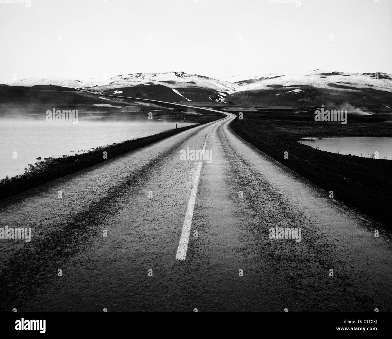 The Ring Road at Myvatn, Iceland - Stock Image