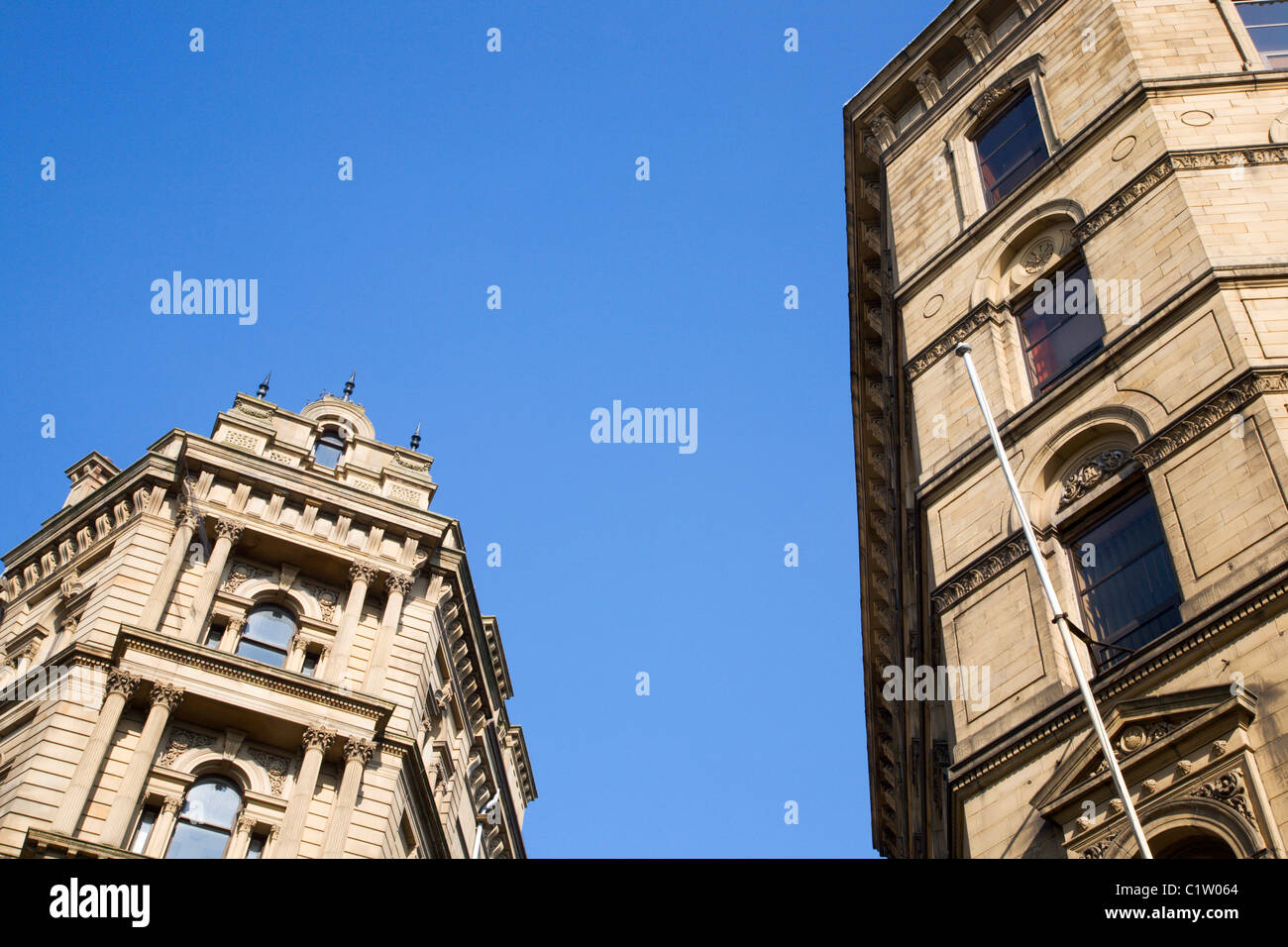 Law Russell and American and Chinese Export Warehouses Bradford - Stock Image