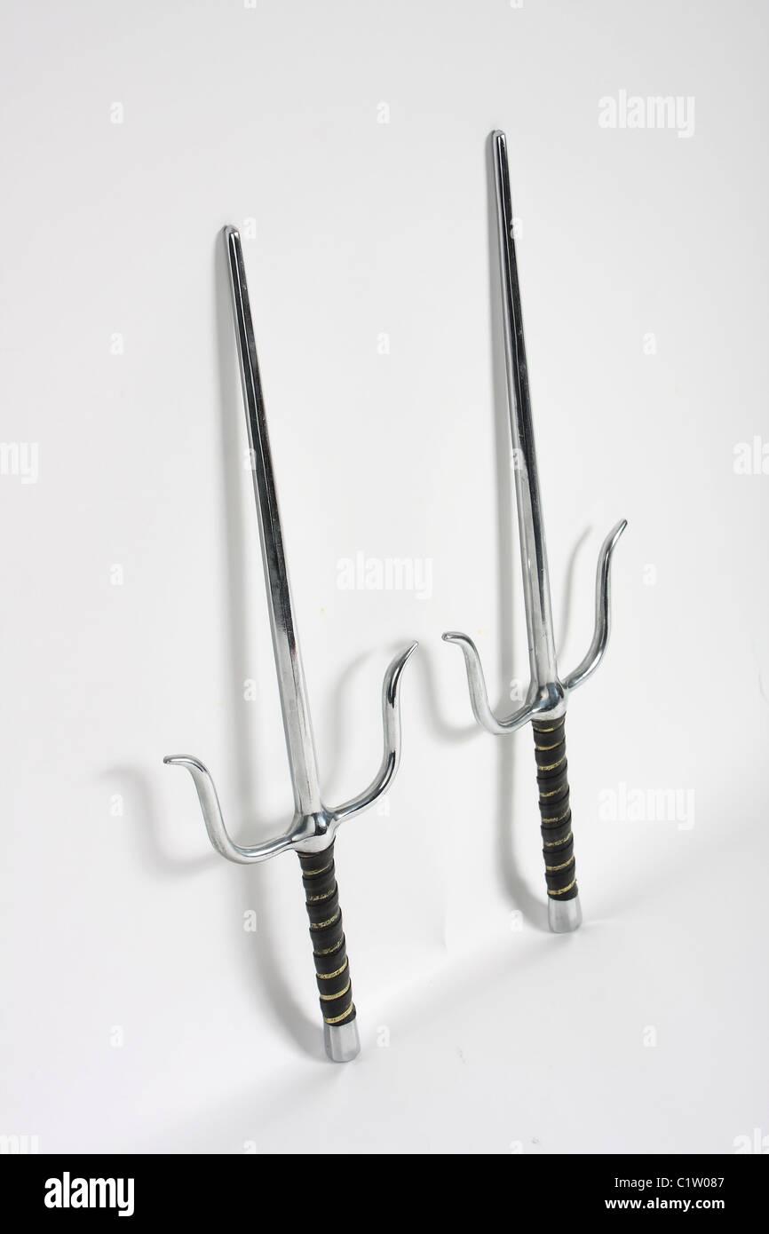 A pair of Egyptian style sai daggers