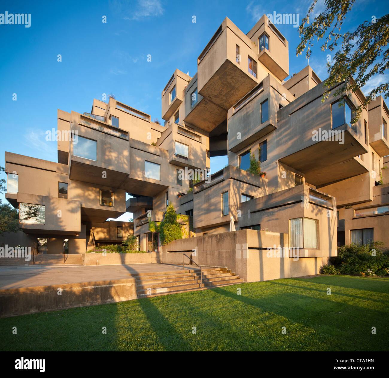Habitat 67 housing buildings at Montreal, Quebec, Canada ...