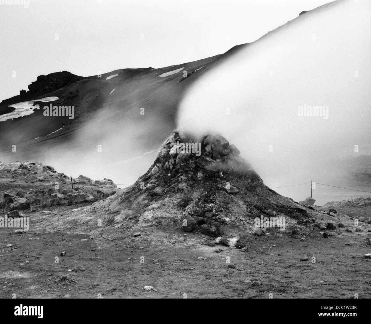 Fumaroles at Námafjall, Myvatn, Iceland - Stock Image