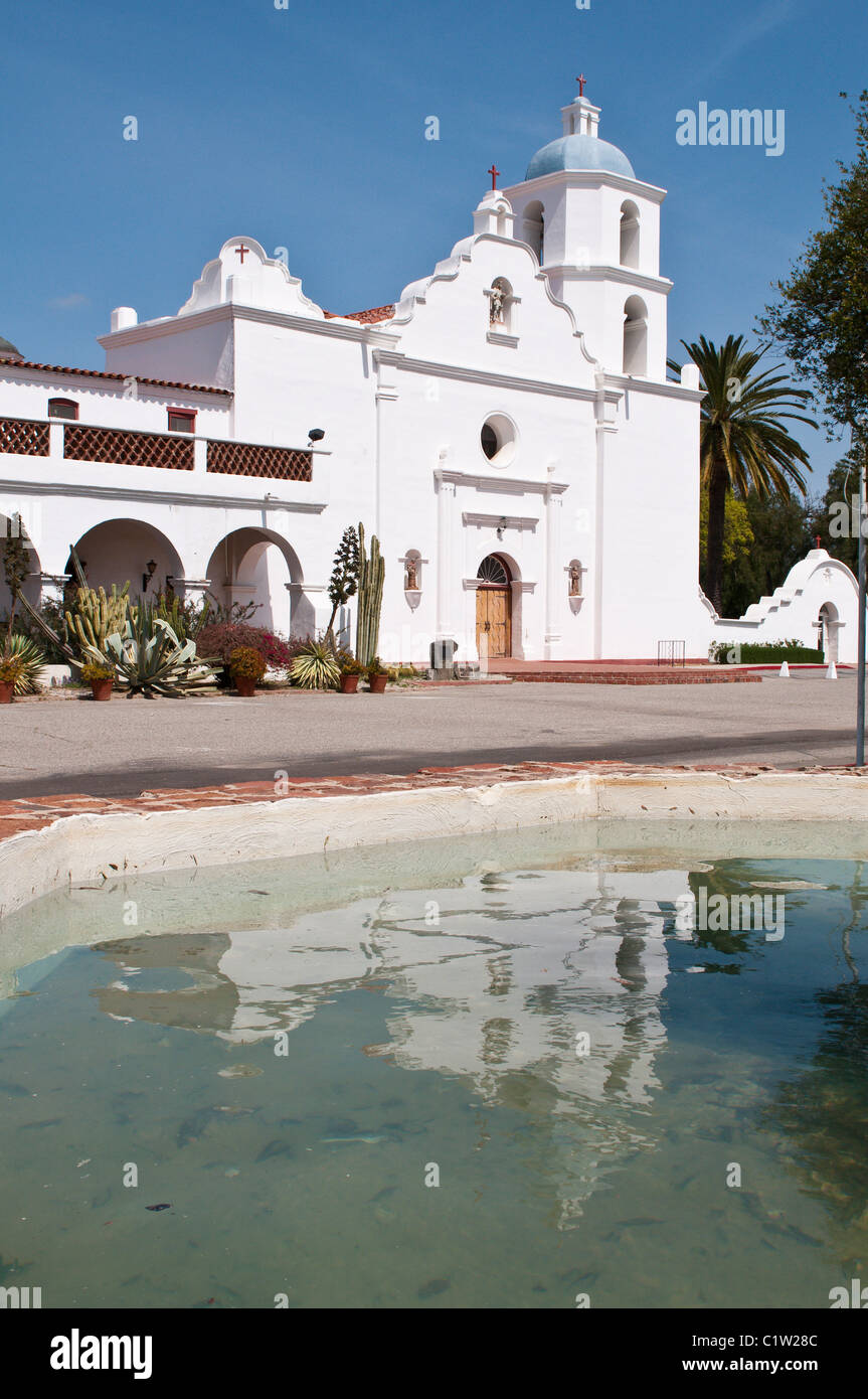 front of mission san luis rey in oceanside ca us stock photo