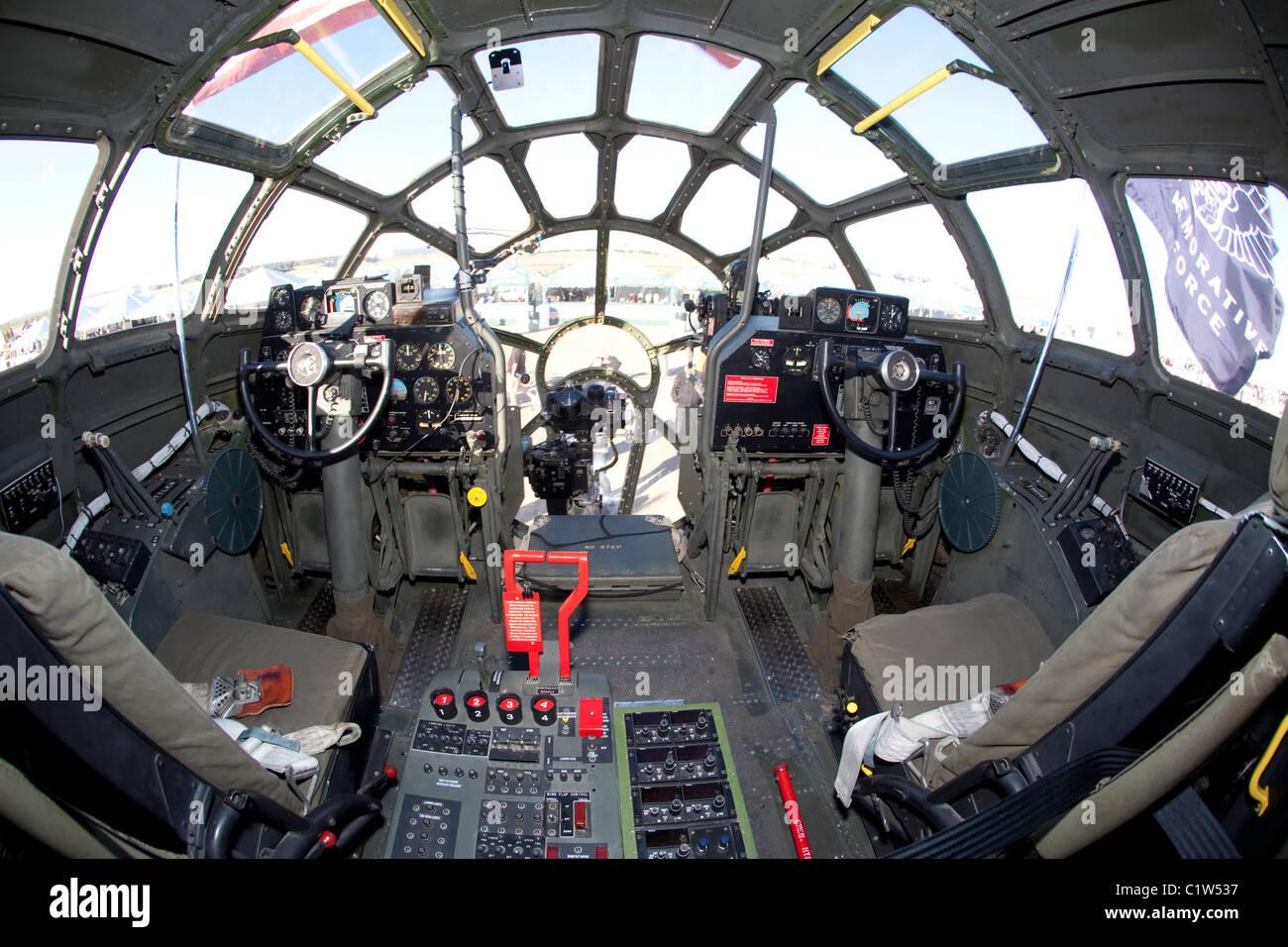B 29 Inside Cockpit of Boei...
