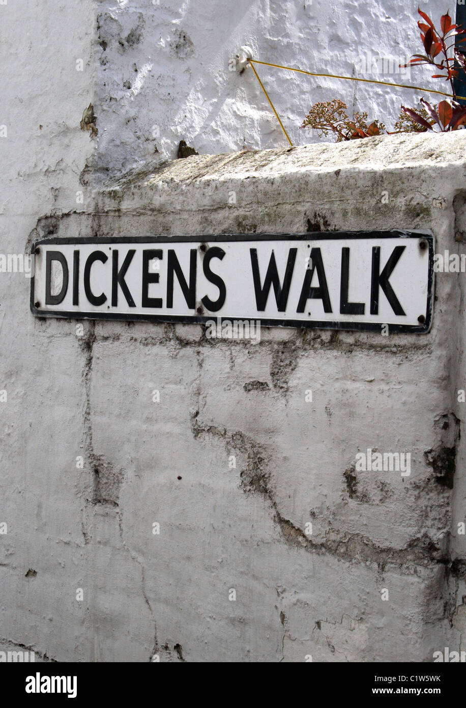 Dickens Walk, in Broadstairs, Kent in the South East of England. - Stock Image
