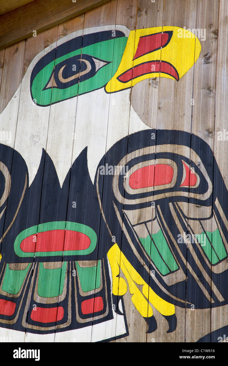 Painted Eagle In A Museum Clan House Icy Strait Point Hoonah City
