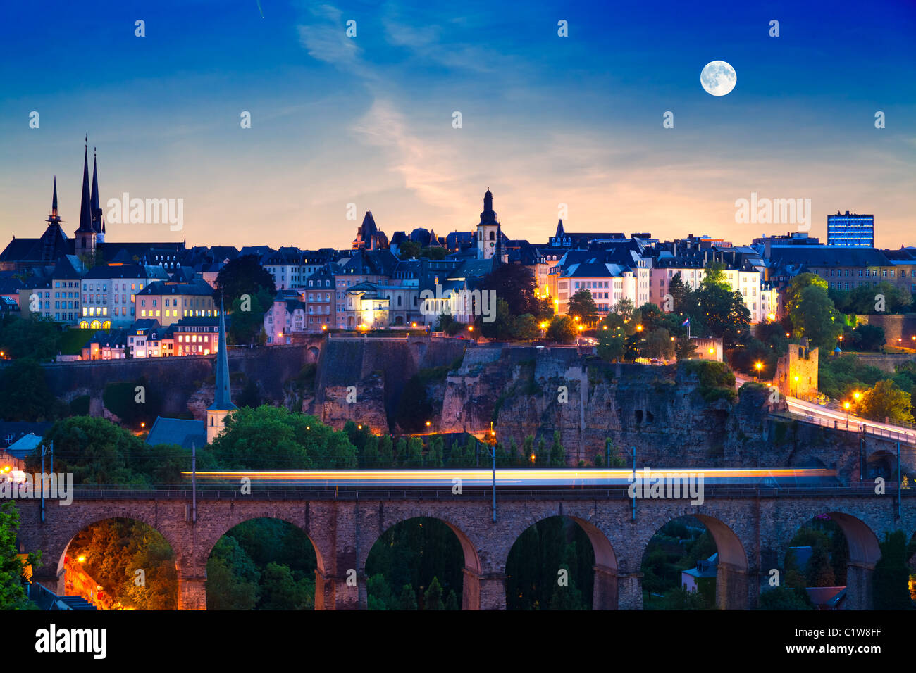 Luxembourg City - Stock Image