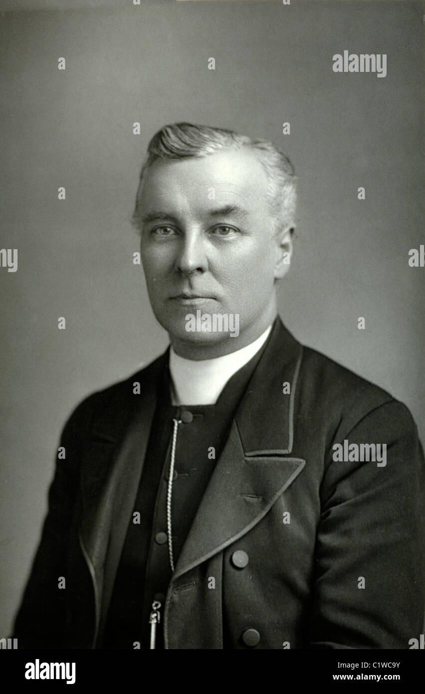 Portrait of Canon Fleming, British Clergyman - Stock Image