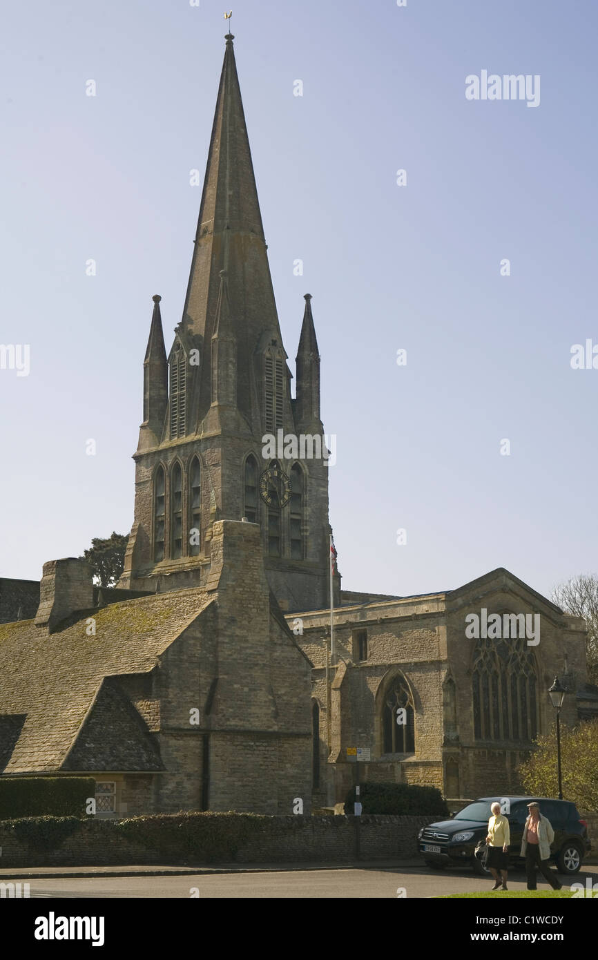 England Oxfordshire Witney StMary Virgin church - Stock Image