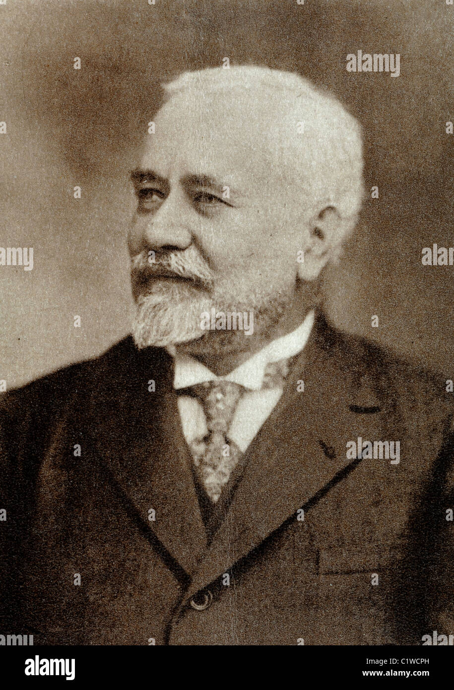 Albert Calmette (1863-1933) French Doctor, Physician, Bacteriologist & Immunologist - Stock Image