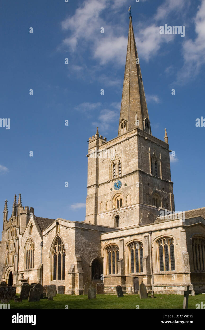 England Oxfordshire Burford StJohn Baptist church - Stock Image