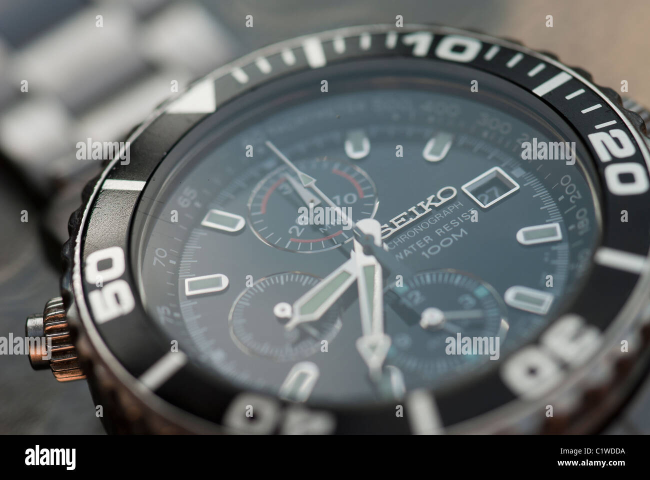 Close up of Chronograph Watch - Stock Image