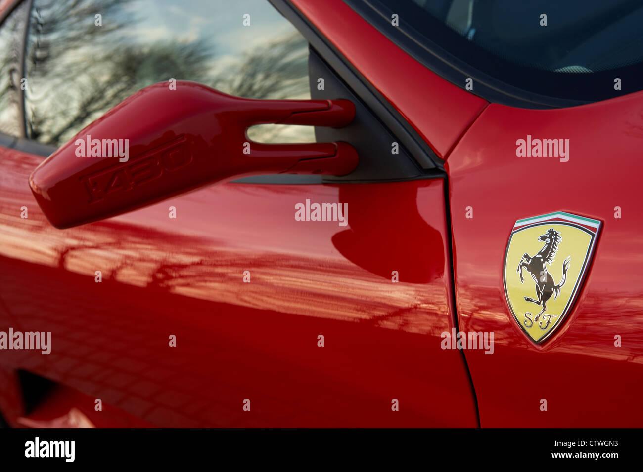 FERRARI F430 BADGE CLOSE UP - Stock Image