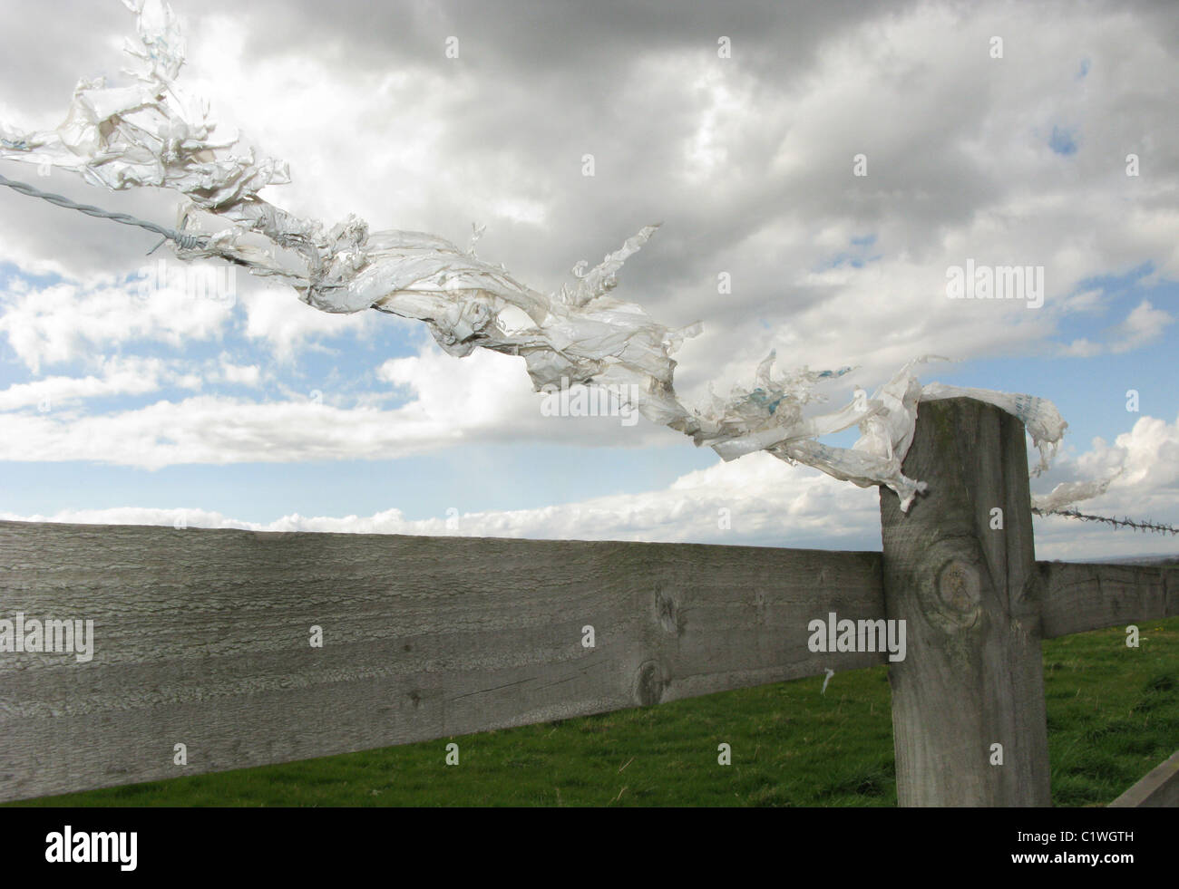 Barbed Wire Fence Post Around Stock Photos & Barbed Wire Fence Post ...