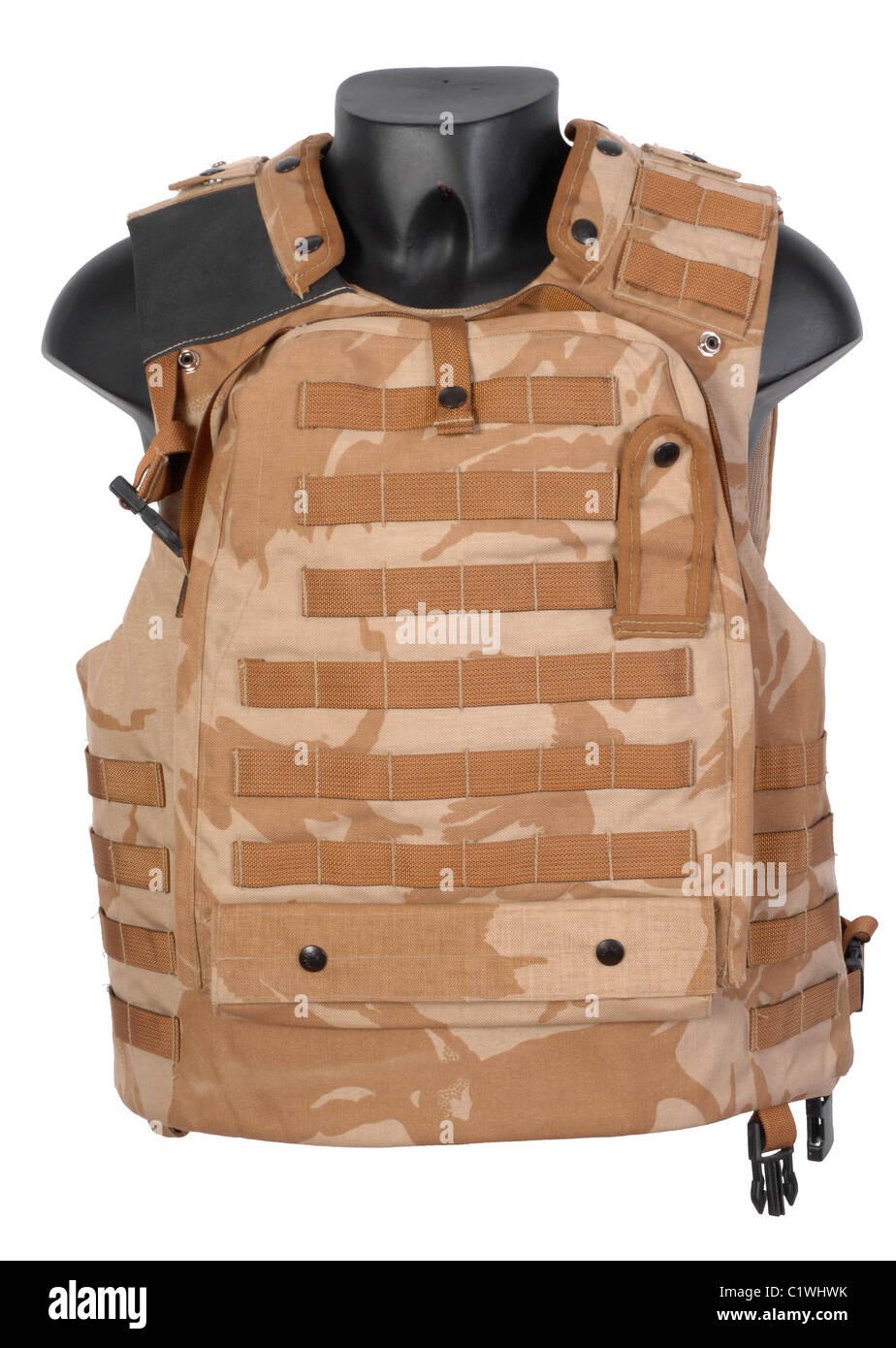 Modern british body armour as used in Afghanistan. - Stock Image