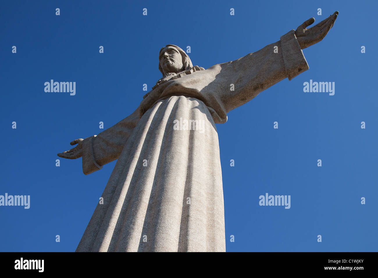 Jesus Christ monument 'Cristo-Rei' in Lisbon, Portugal - Stock Image