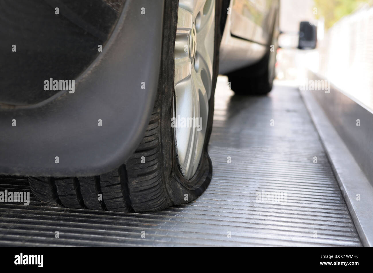 Flat tire - Stock Image