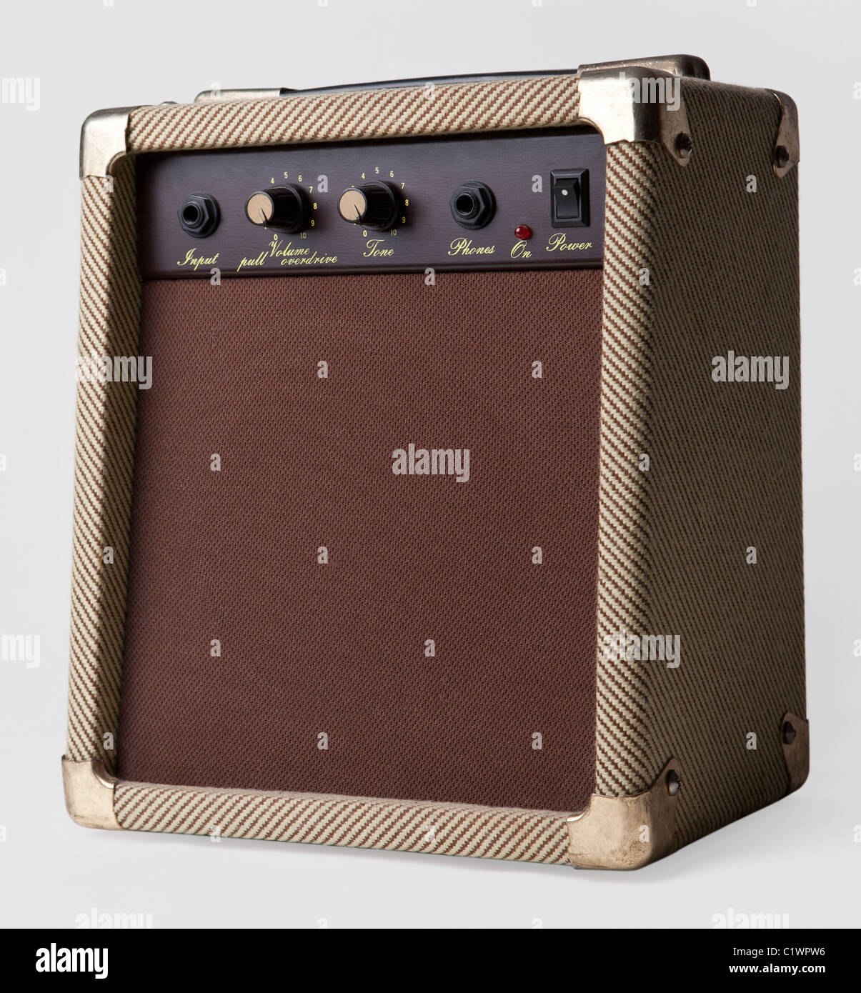 Guitar Amplifier isolated on a white background Stock Photo