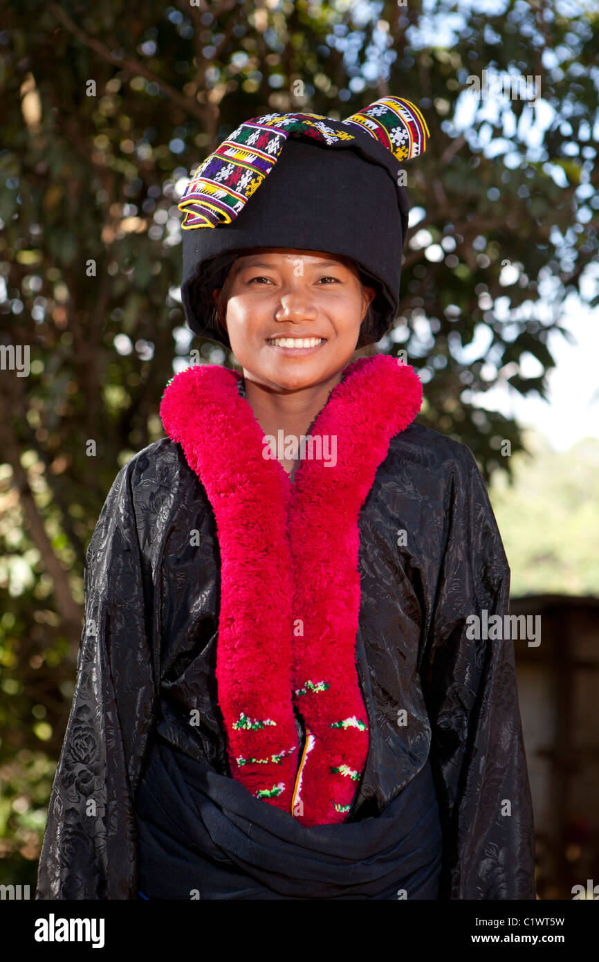Iu Mien Yao Hill Tribes Girl Wearing Traditional Cloth For Visit Stock Photo Alamy