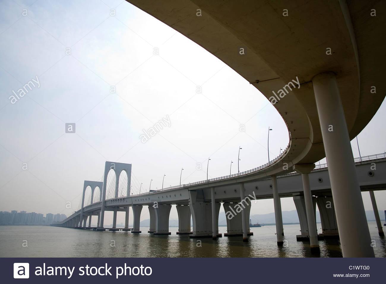 Macau, Sai Van Bridge, China - Stock Image