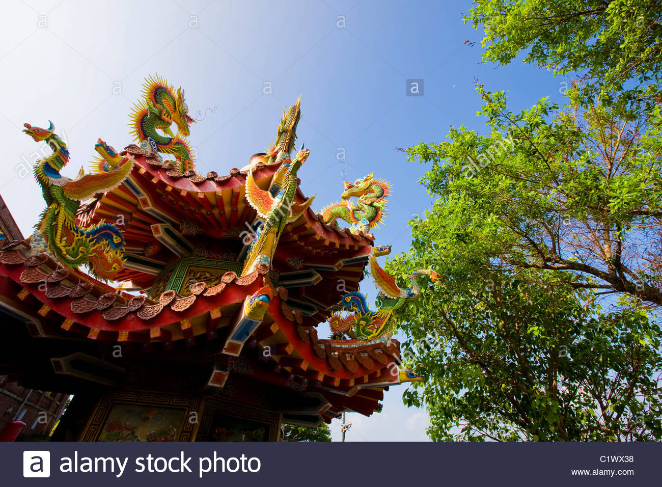 Kaohsiung, Eighteen Lords Temple, West Sizihwan Bay, Taiwan - Stock Image