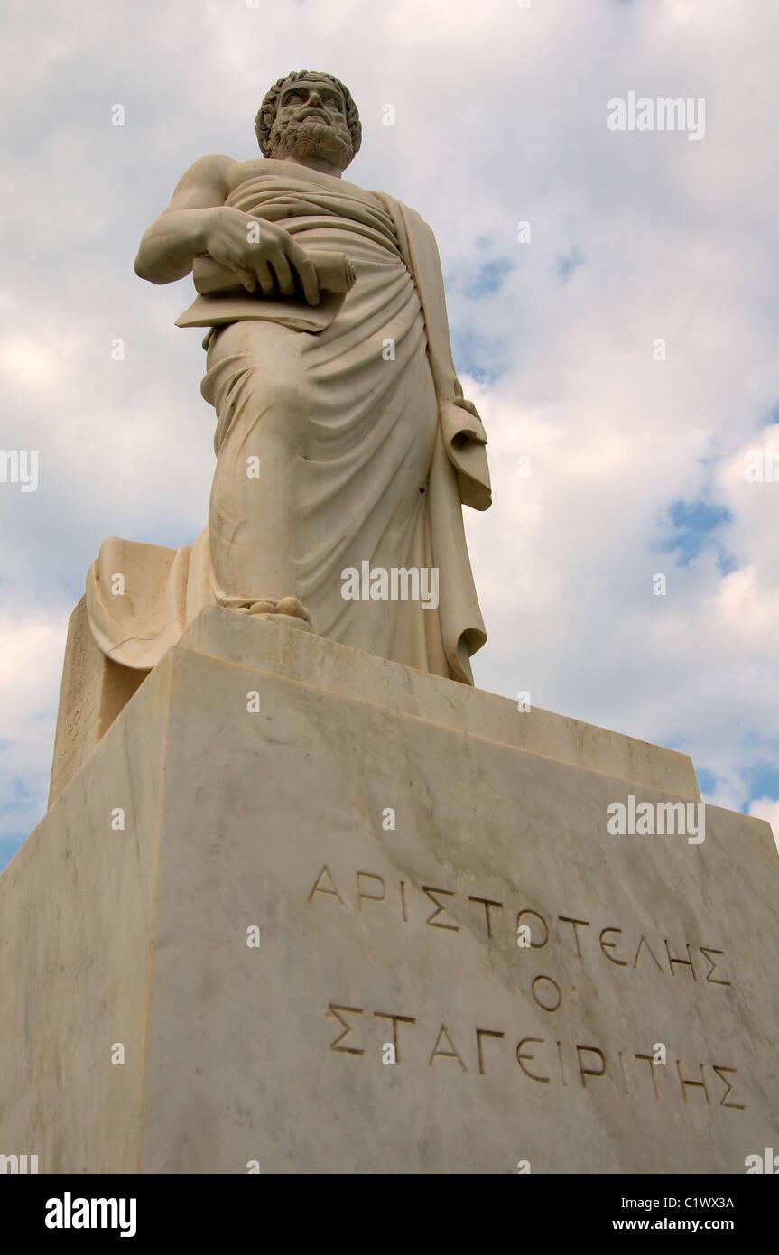 the Ancient Greek mathematician Aristotle - Stock Image
