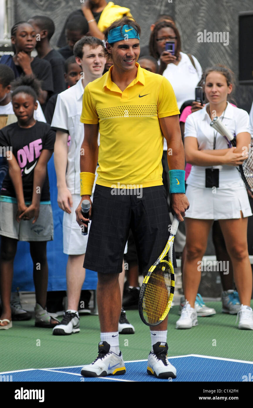 Rafael Nadal The Nike Game Set Nyc Tennis Event Ahead Of The Us Stock Photo Alamy