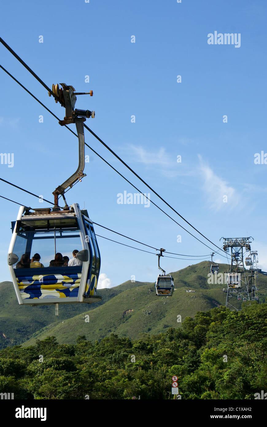 Cable car, Lantau Island, Hong Kong, China - Stock Image