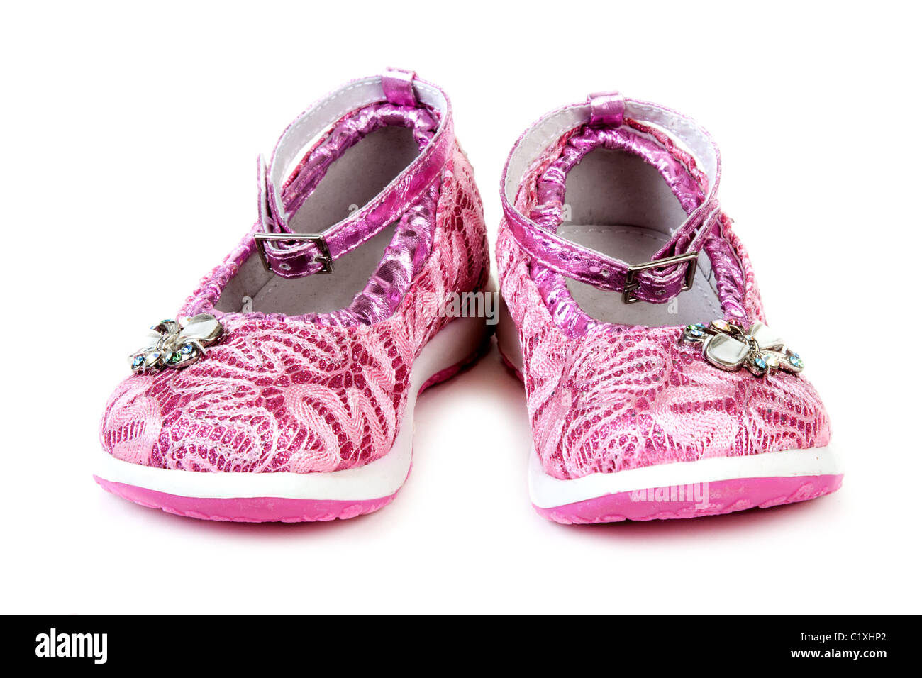f0fbd2010b37f Rose baby sandals insulated on white background Stock Photo ...
