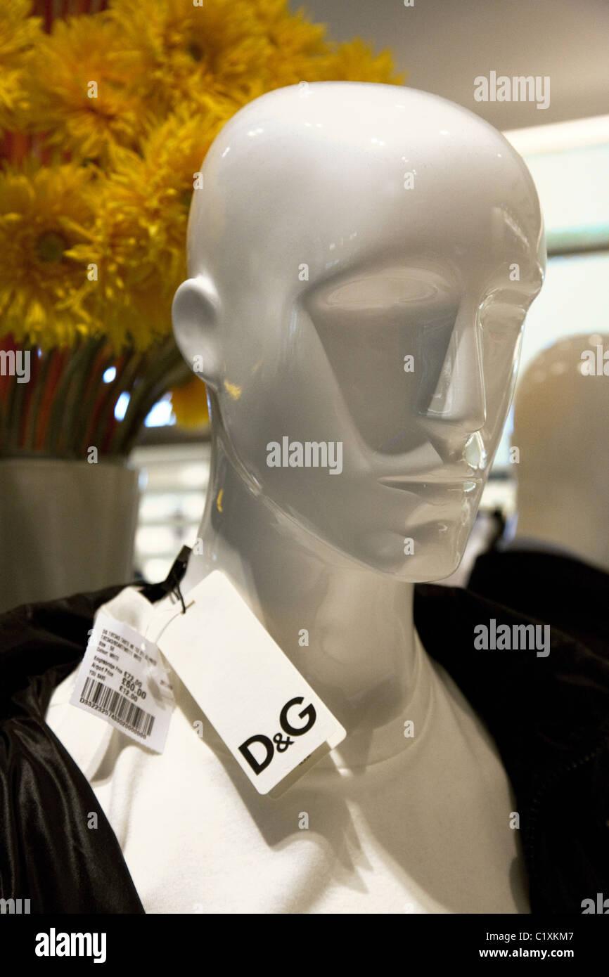 Dummy wearing Dolce & Gabana clothing - Stock Image