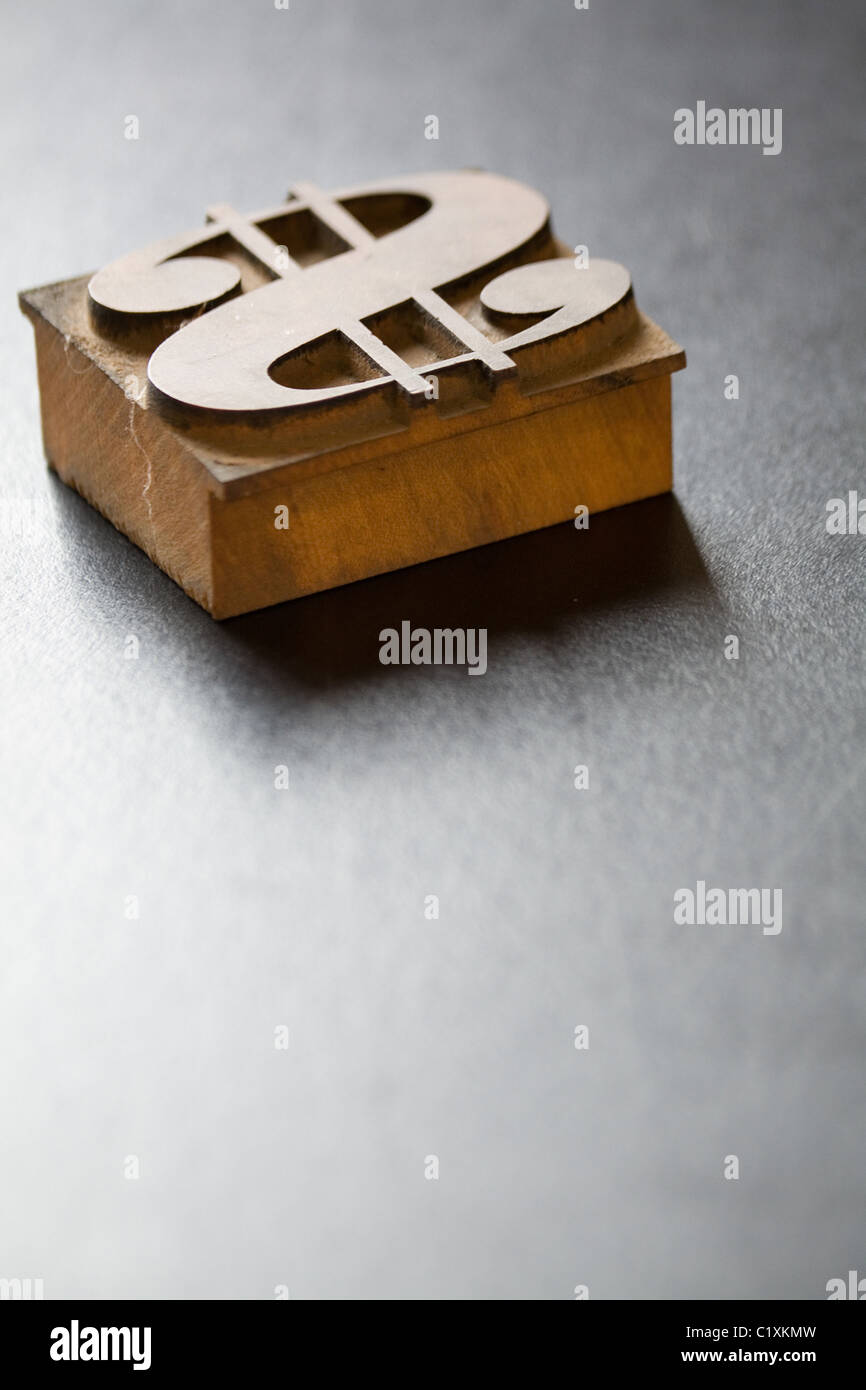 Antique Dollar Typeface, business concept - Stock Image