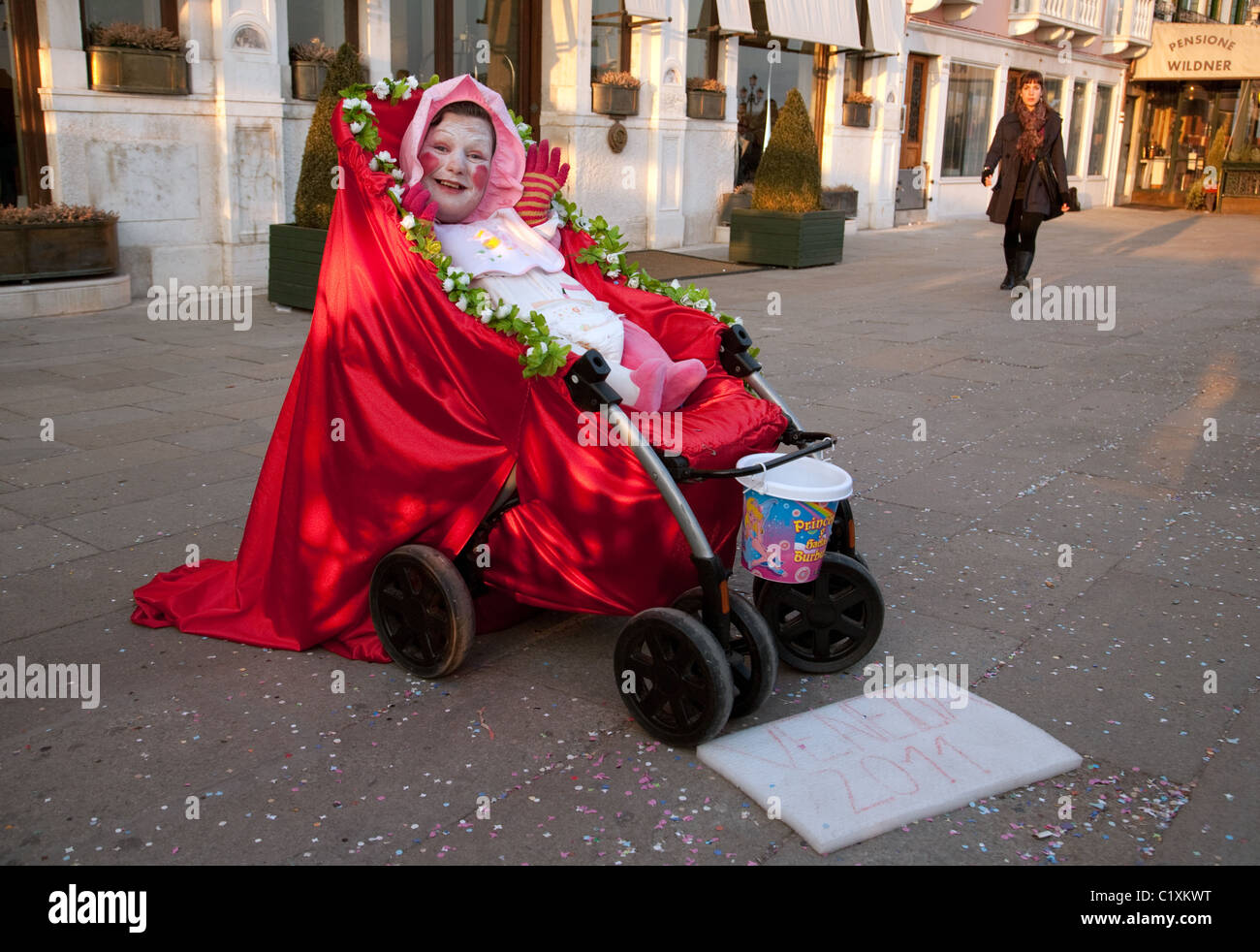 Street entertainer, venice italy - Stock Image
