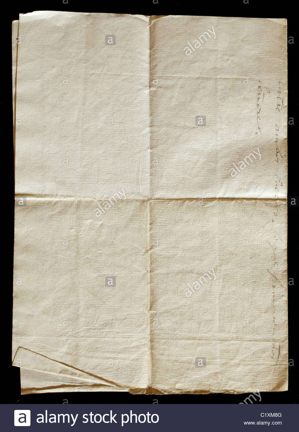 Old Letter Folded Stock Photos  Old Letter Folded Stock Images  Alamy