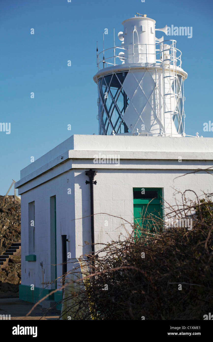 South light lighthouse on Lundy Island, Devon, England UK in March - Stock Image