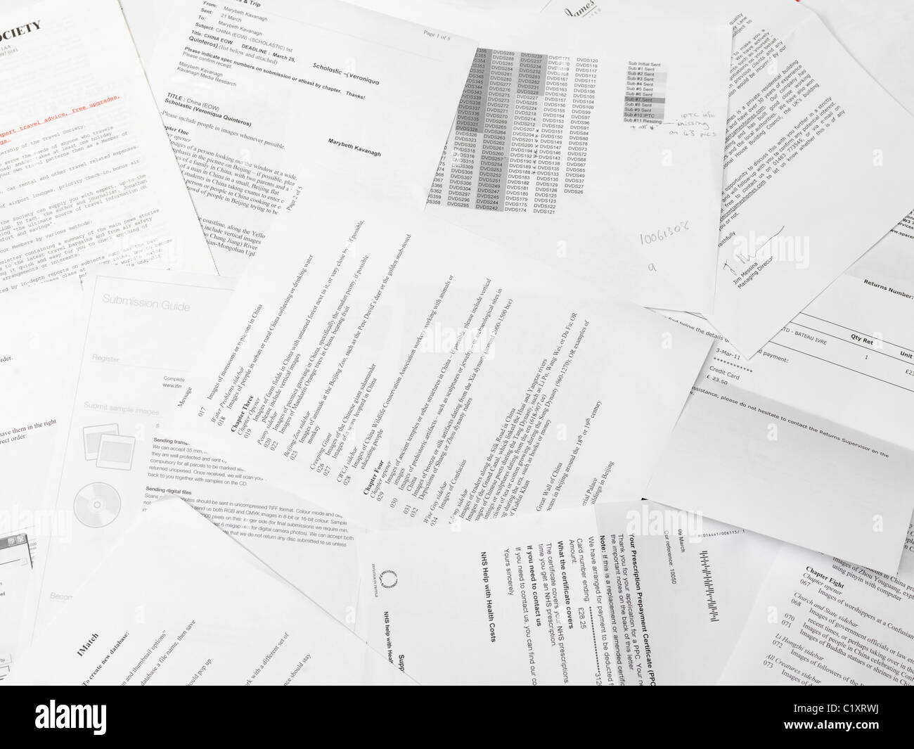 scattered paper reports and documents stock photo 35624894 alamy