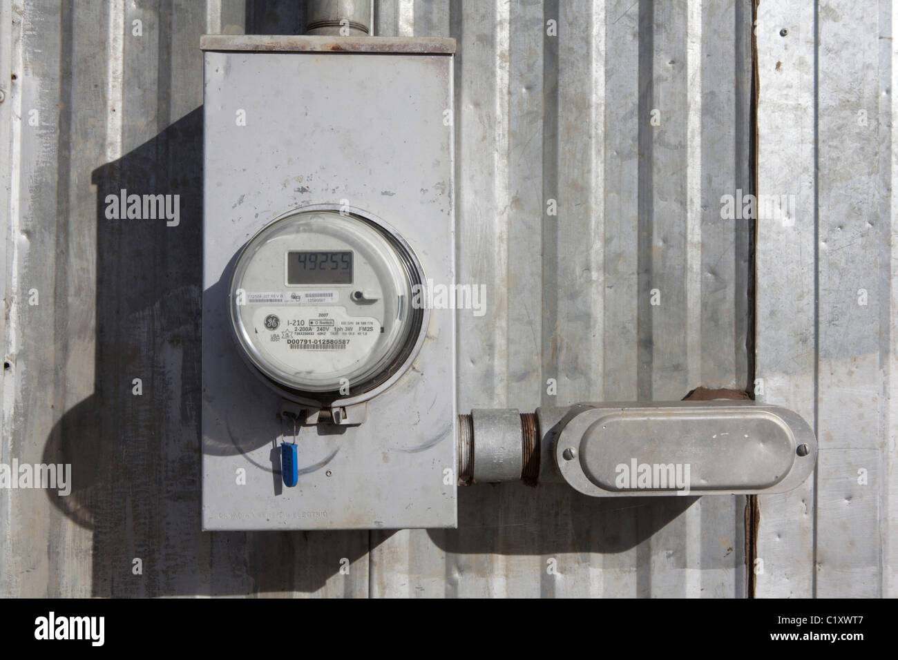 Water meter at the FIRST NATIONS LOUBACON PEACE RIVER RESERVATION - Stock Image