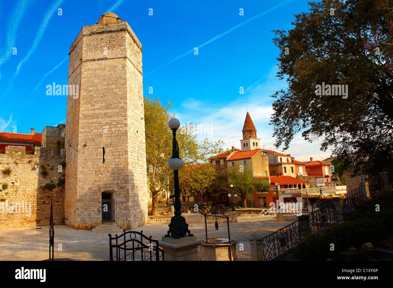 Medieval walls of Zadar, Croatia - Stock Image