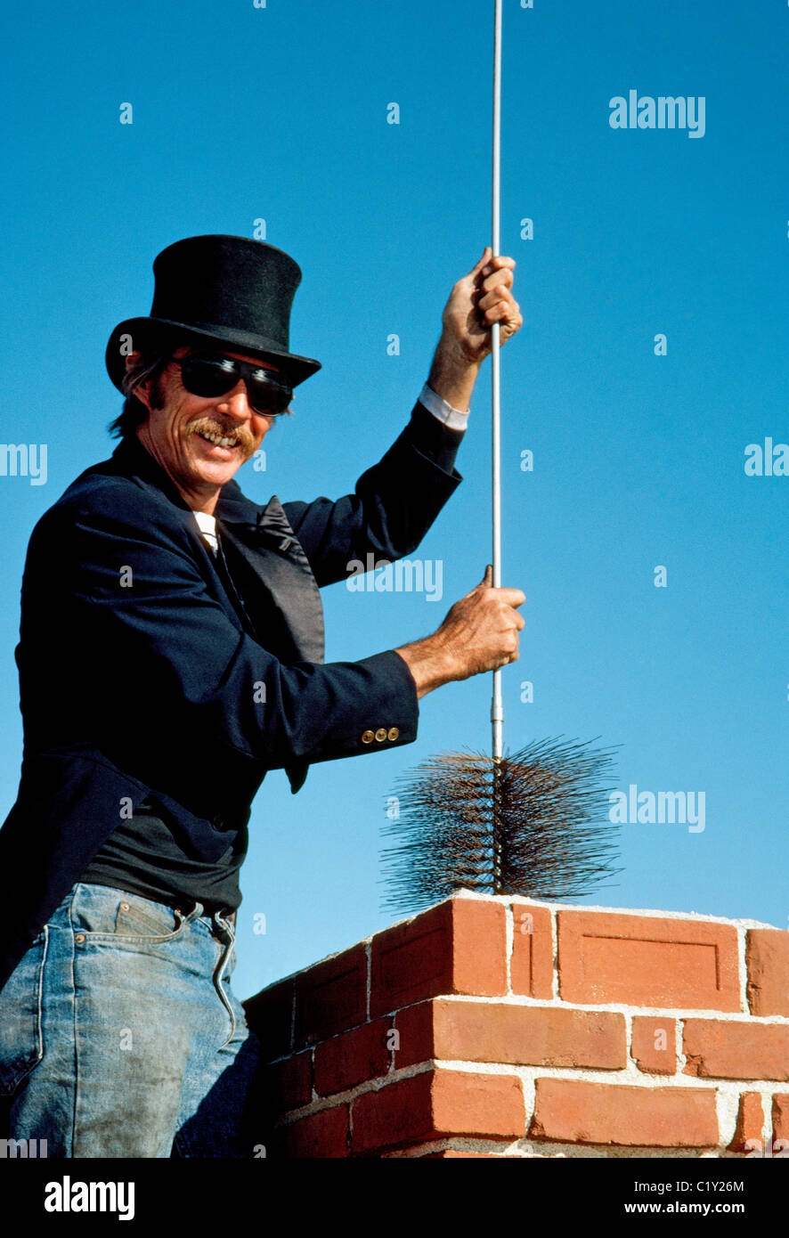 A Chimney Sweep In Black Top Hat And Tuxedo Coat The Work