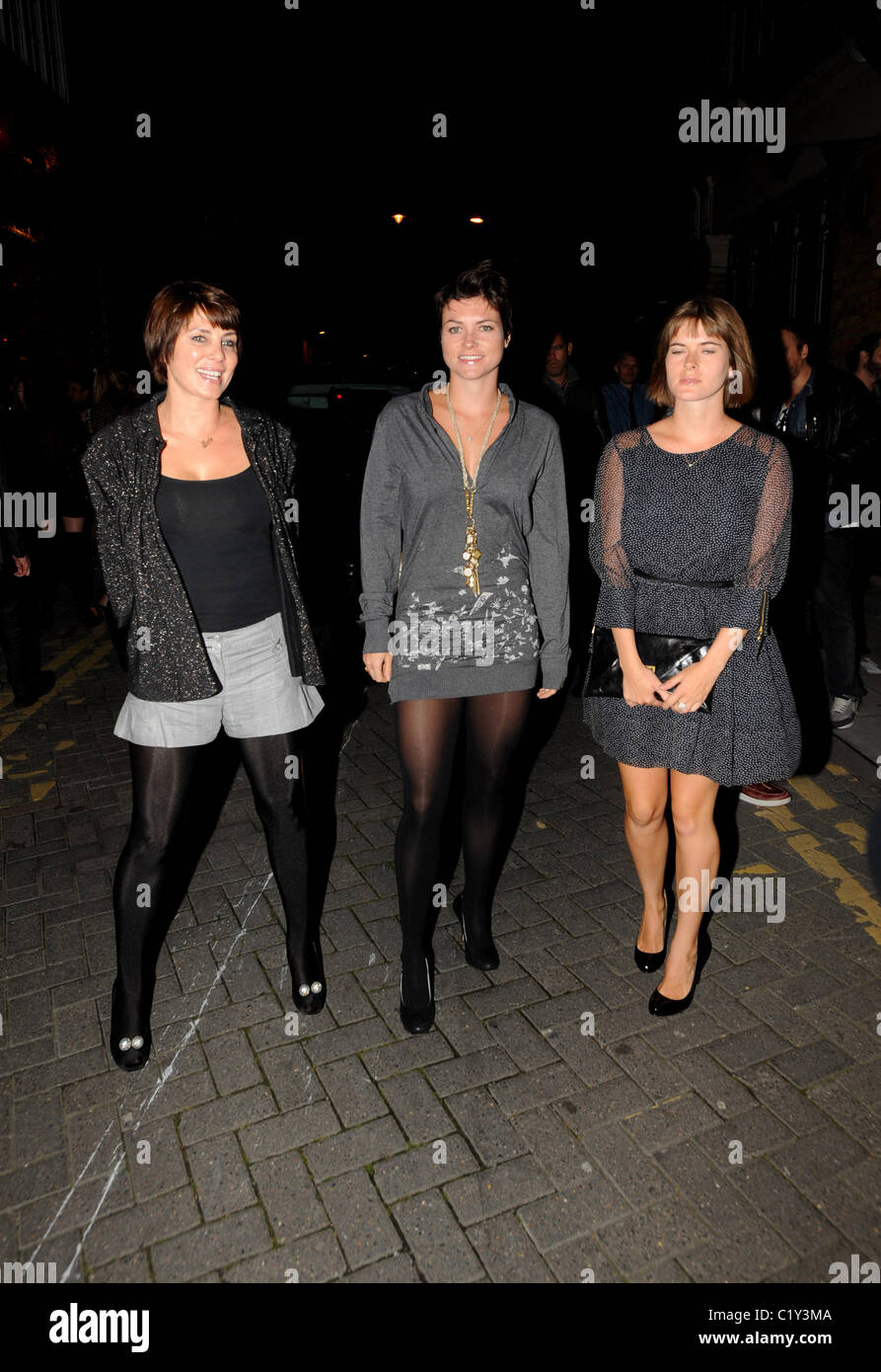 Sadie Frost with her sisters PRPS hearts start launch party at held at Start boutique London, England - 03.09.09 - Stock Image
