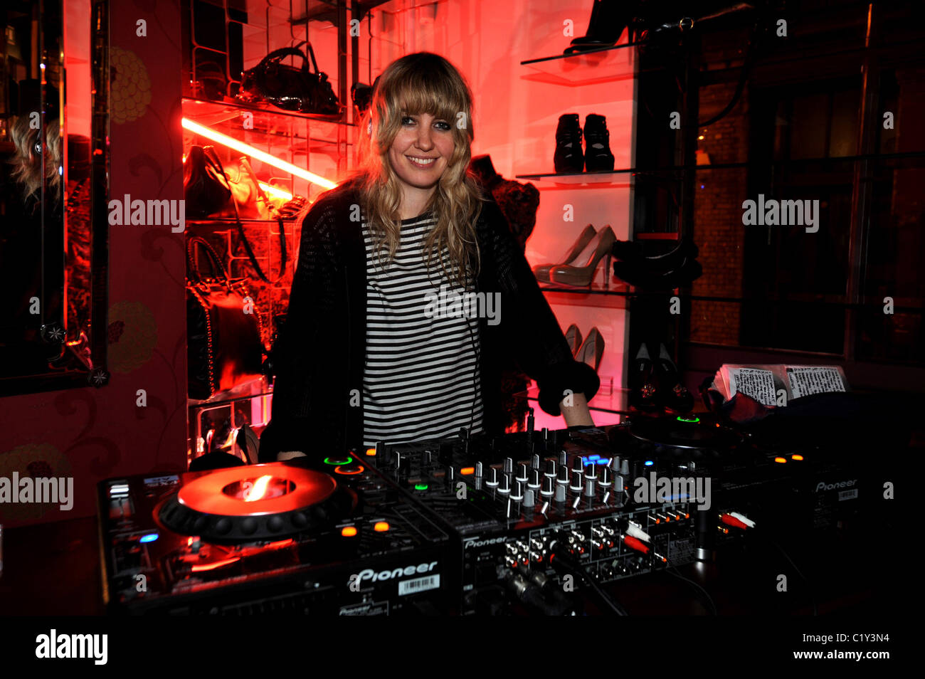 Phillipa 'Pip' Brown of Ladyhawke PRPS hearts start launch party at held at Start boutique London, England - Stock Image