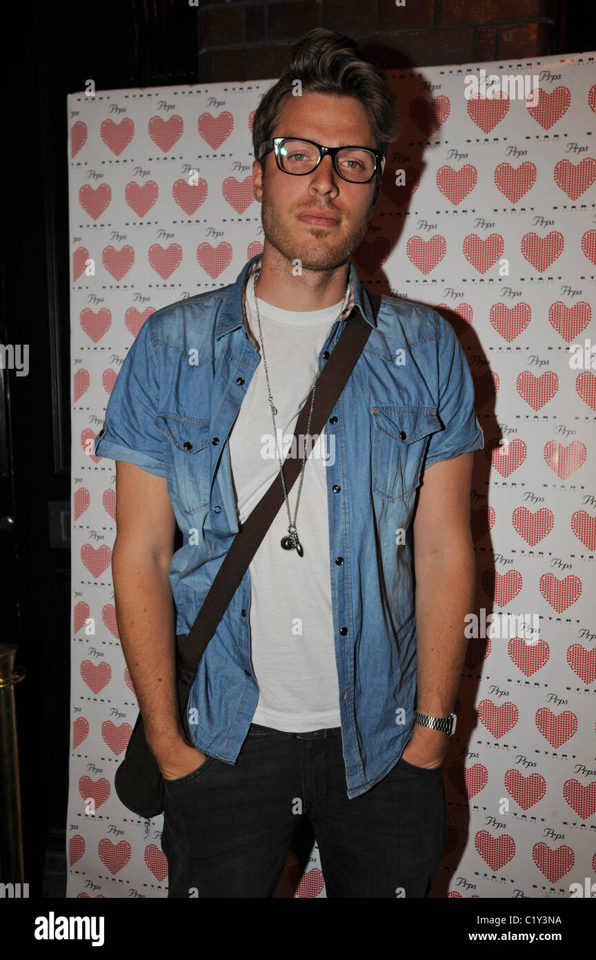 Rick Edwards PRPS hearts start launch party at held at Start boutique London, England - 03.09.09 - Stock Image