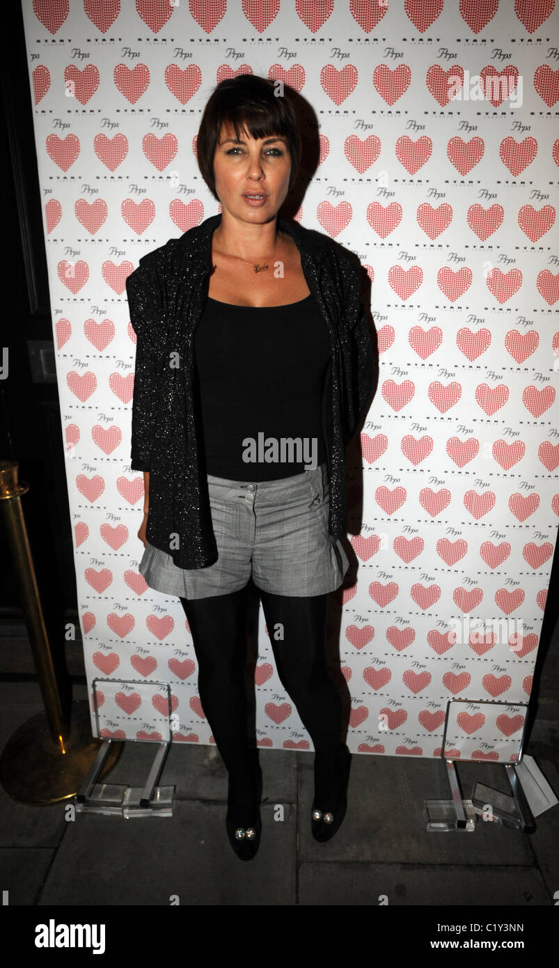 Sadie Frost PRPS hearts start launch party at held at Start boutique London, England - 03.09.09 - Stock Image