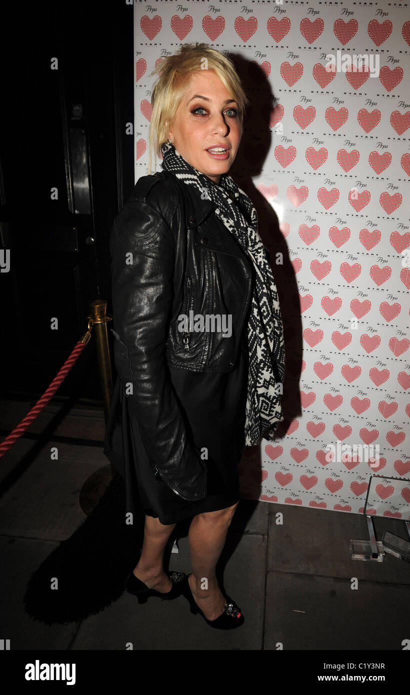 Brix Smith-Start PRPS hearts start launch party at held at Start boutique London, England - 03.09.09 - Stock Image