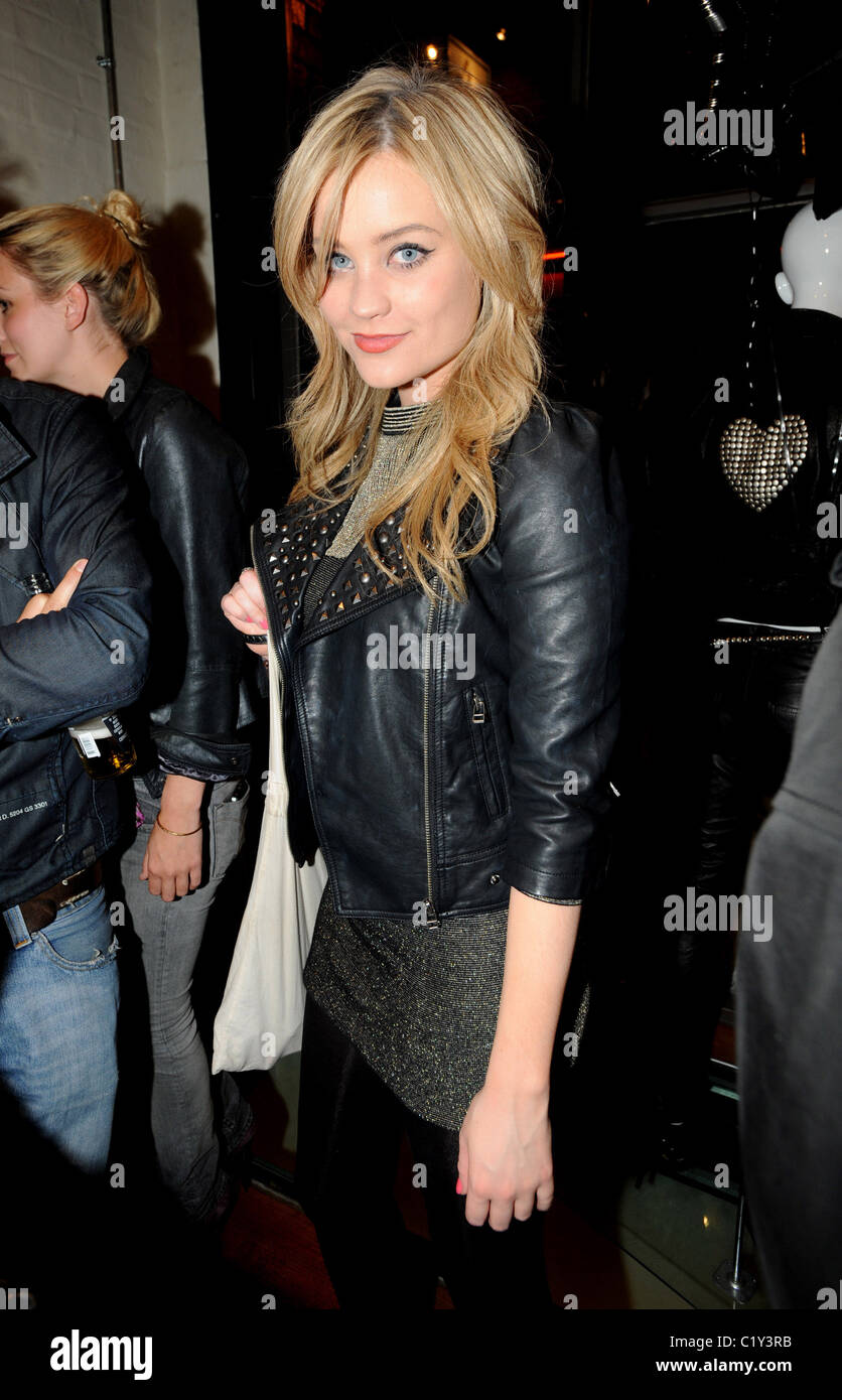 Laura Whitmore PRPS hearts start launch party at held at Start boutique London, England - 03.09.09 - Stock Image