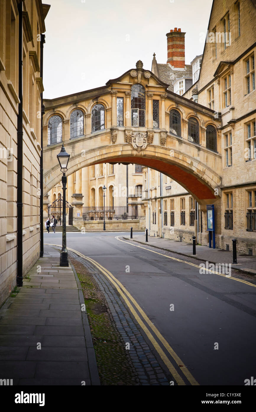 Hertford Bridge at Hertford College, also known as the 'Bridge of sighs', Oxford, UK - Stock Image