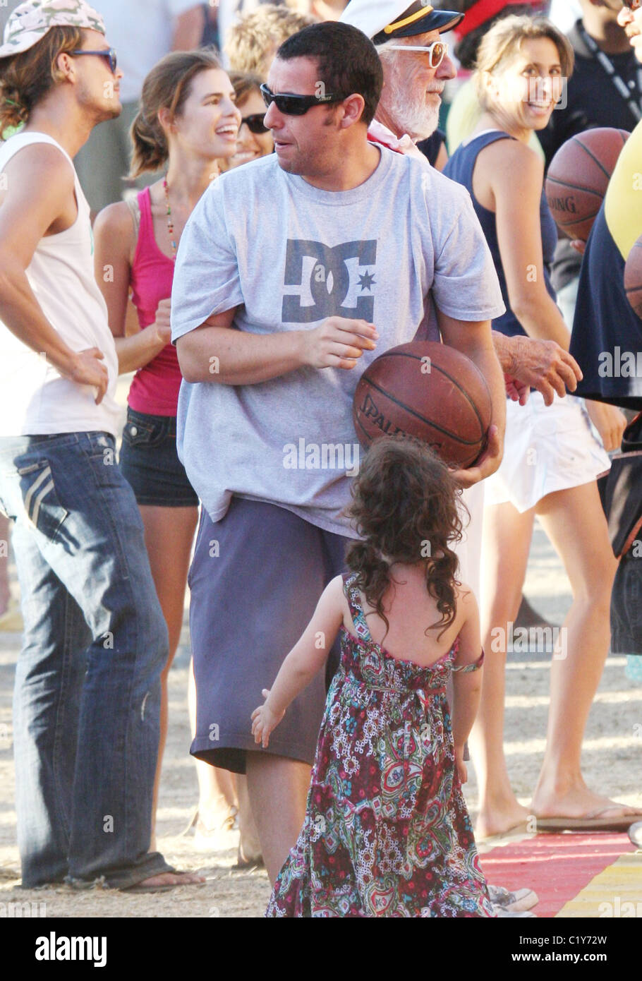 Adam Sandler Takes His Daughter Sadie To The 28th Annual Malibu
