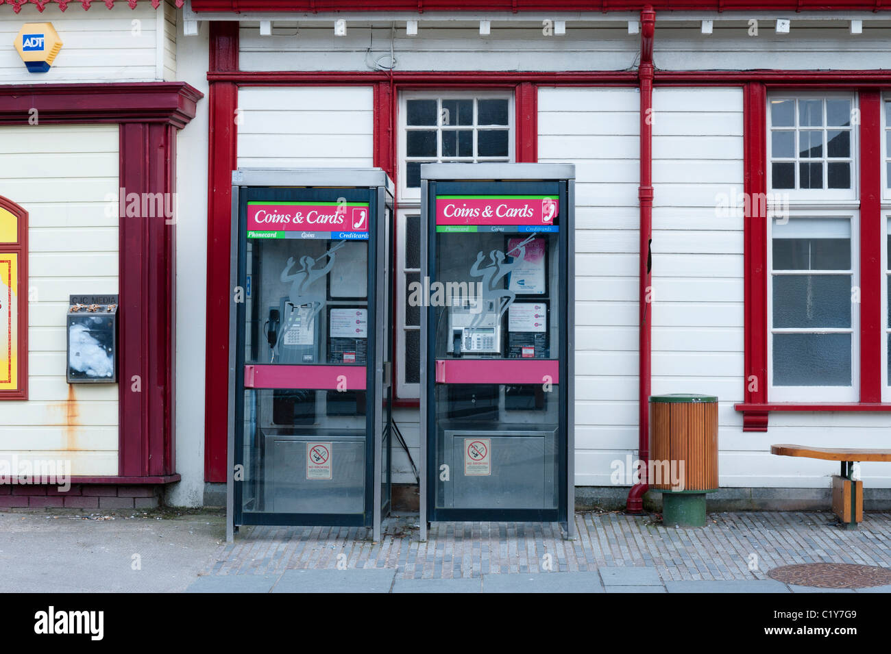 Public call boxes. - Stock Image
