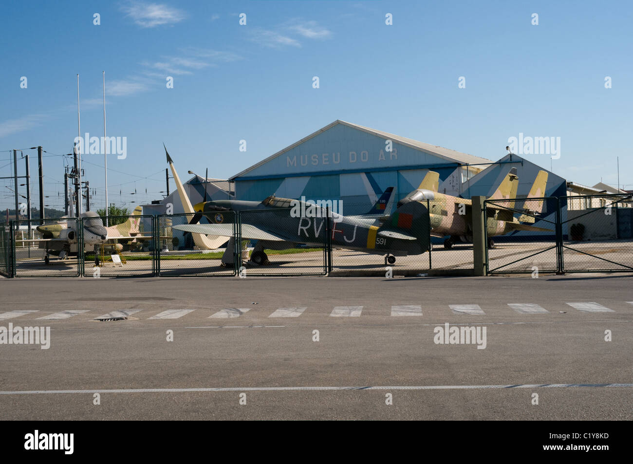 The original aviation museum was at Alverca and still holds a good collection of exhibits. It has limited opening - Stock Image